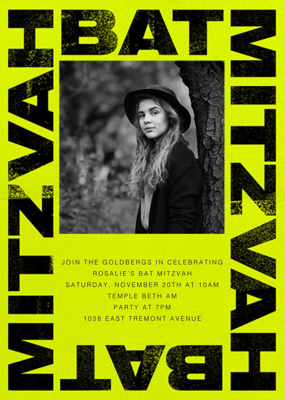 Mitzvah Poster - Bat - Paperless Post - Bar and bat mitzvah