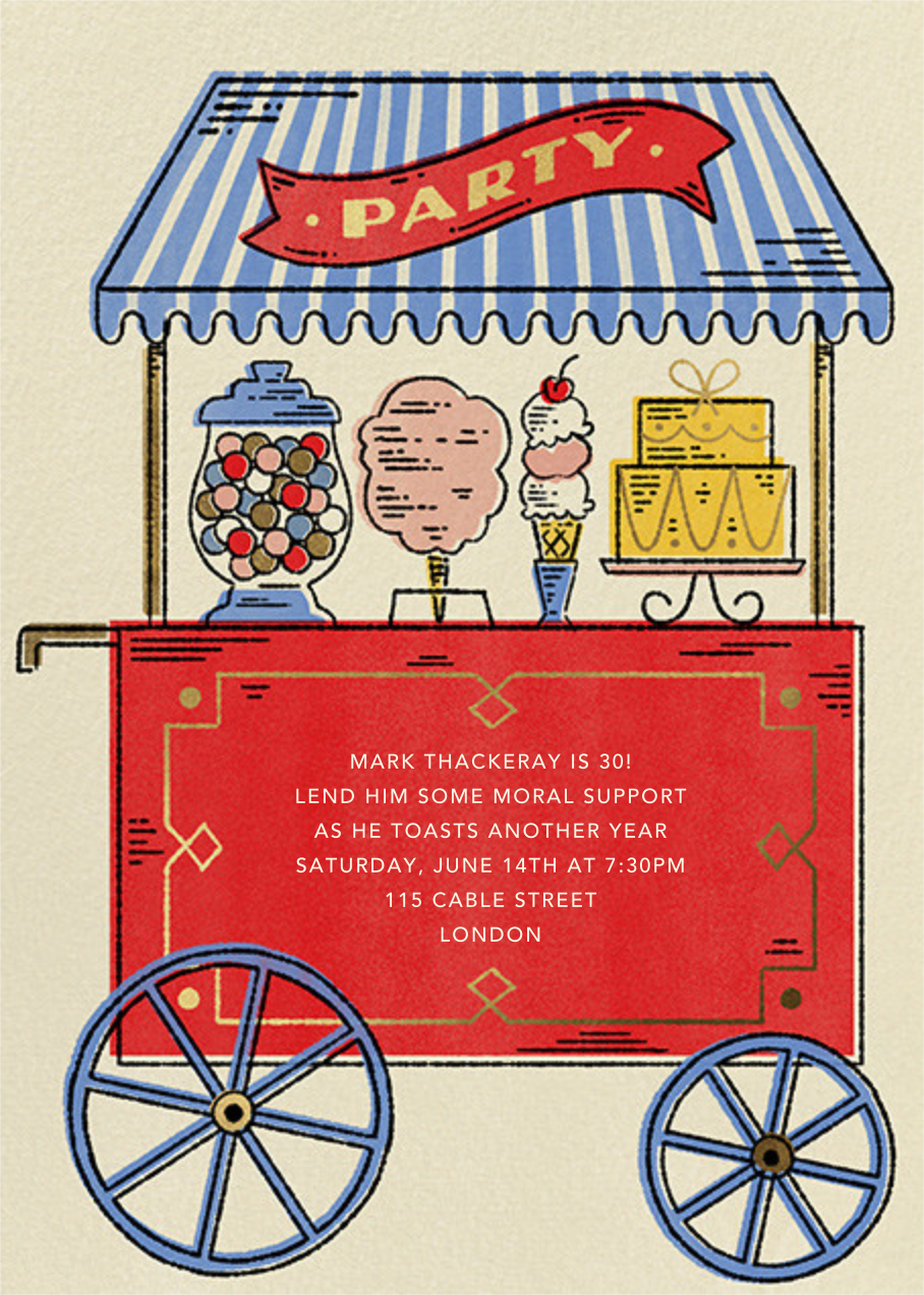Sweet Shoppe - Paperless Post - Adult birthday