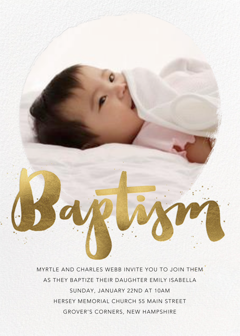 Brushstroke Baptism - Paperless Post - Baptism