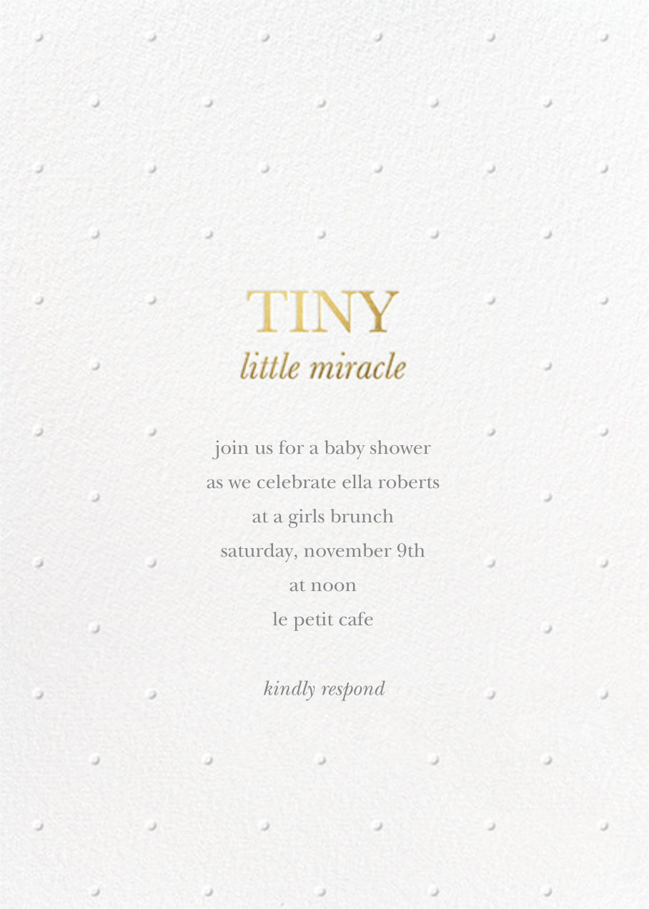 Little Miracle - White - Sugar Paper - Baby shower