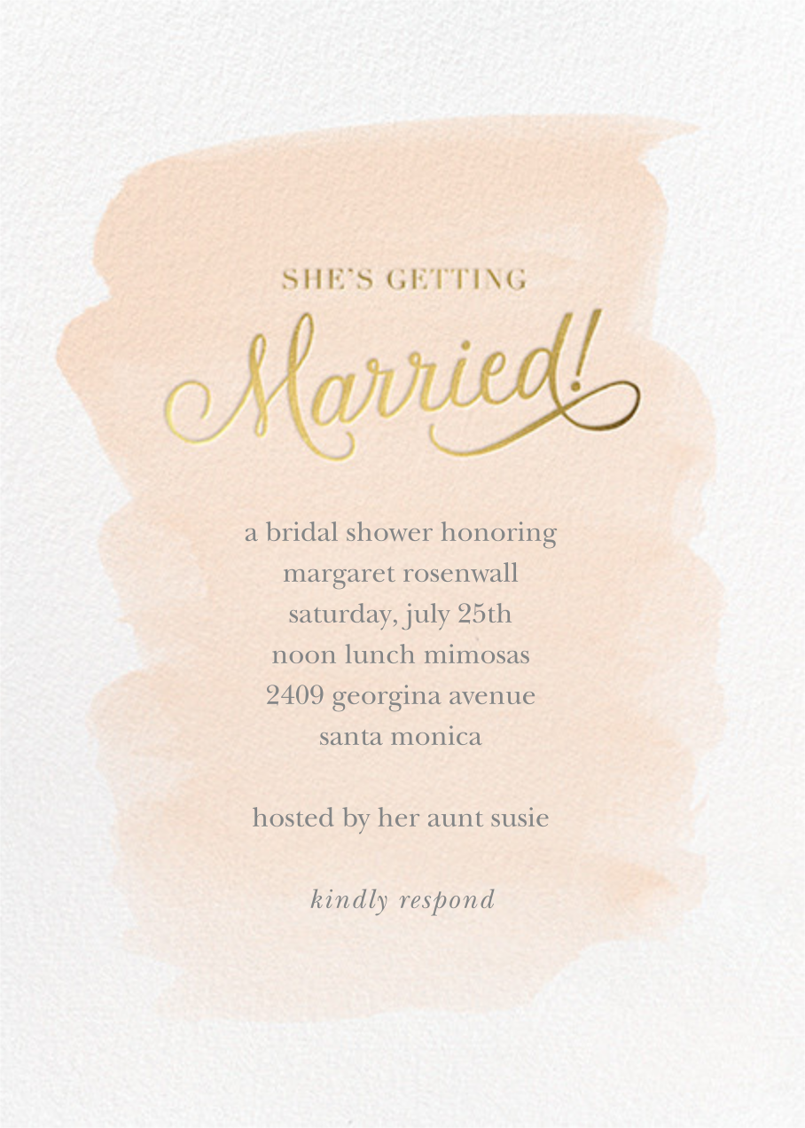 Marvelously Married - Sugar Paper - Bridal shower