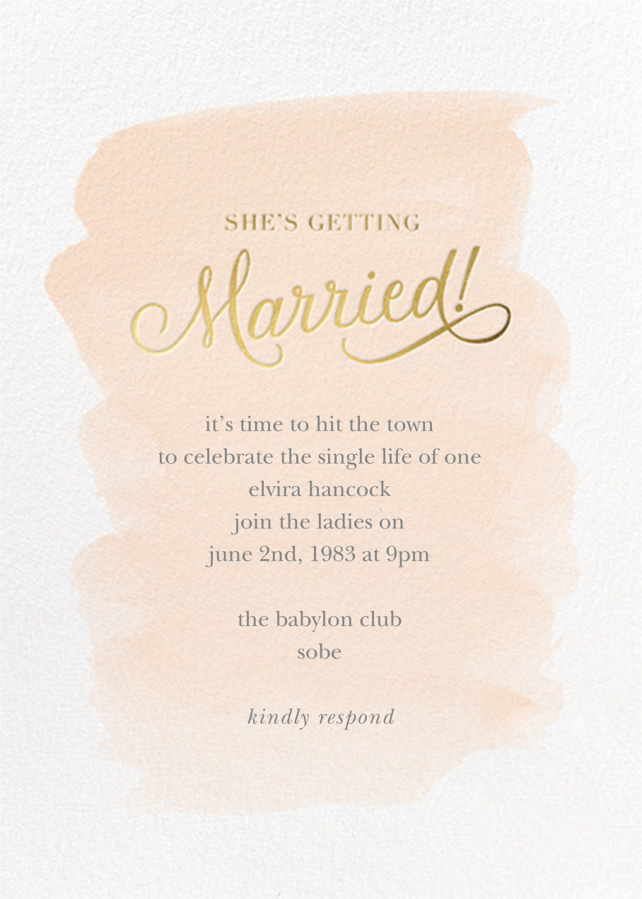 Marvelously Married - Sugar Paper - Bachelorette party