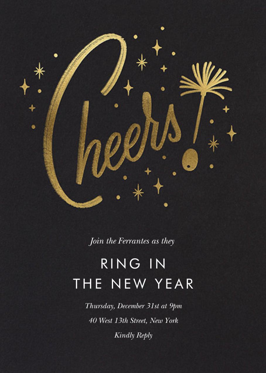 Googie Garnish - Black - Paperless Post - New Year's Eve
