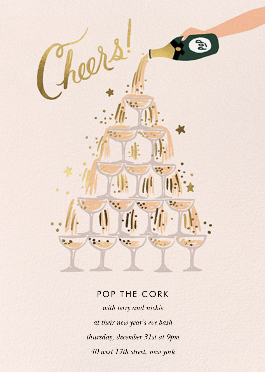 Champagne Tower - Rifle Paper Co. - New Year's Eve