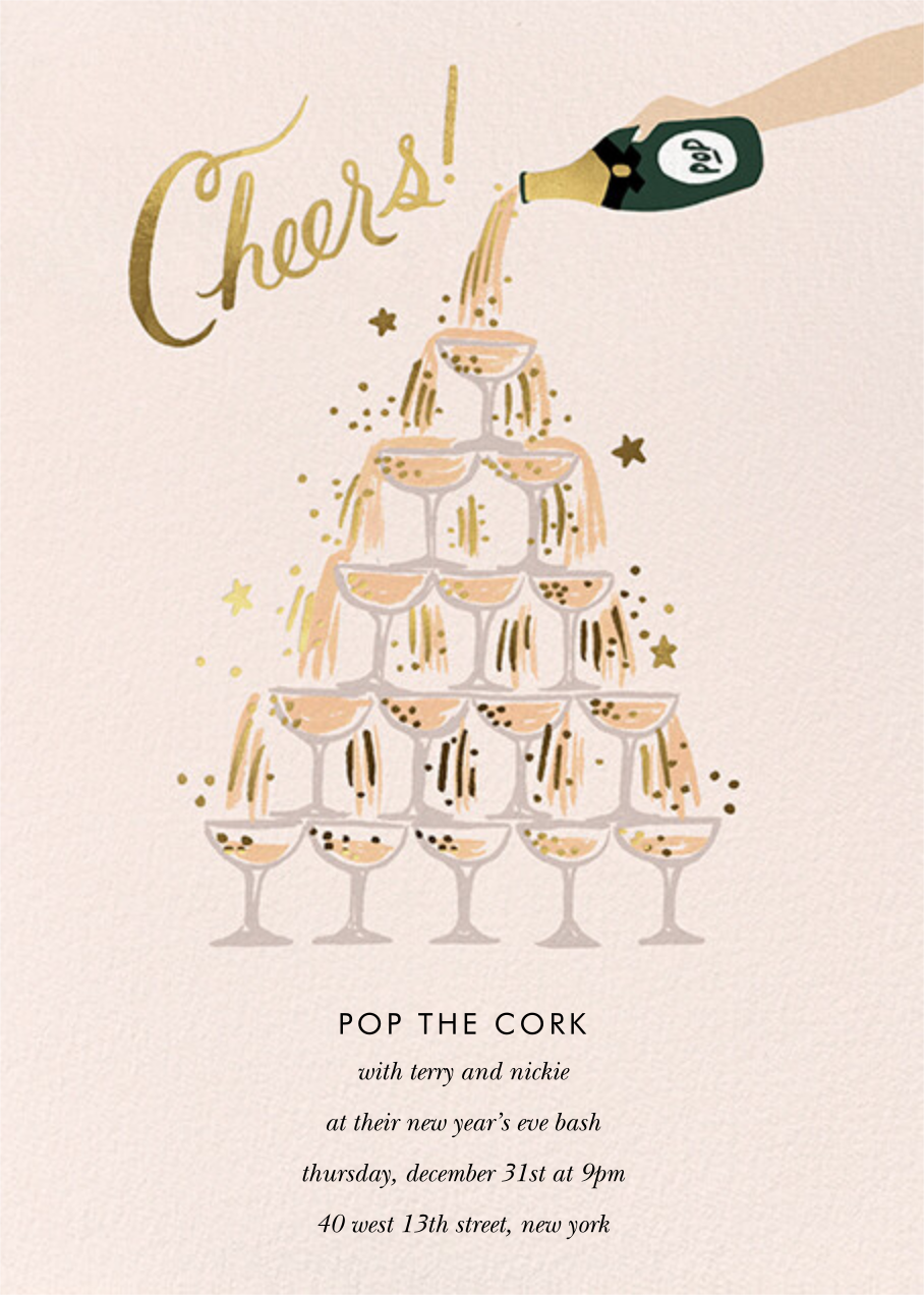 Champagne Tower - Fair - Rifle Paper Co. - New Year's Eve
