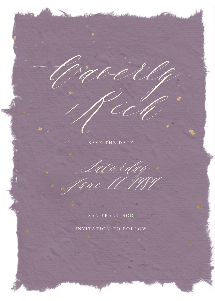 Cennini - Lilac - Paperless Post - Save the date