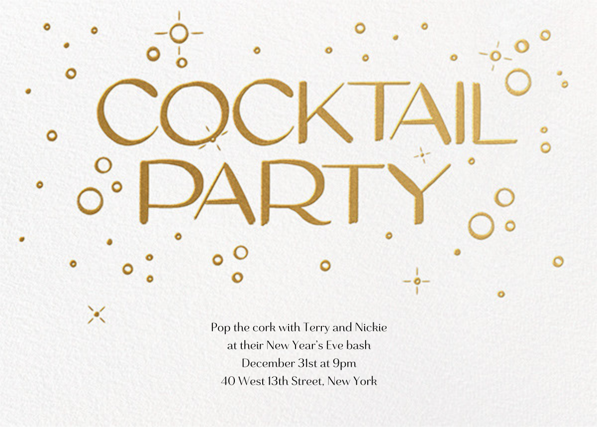 Embossed Bubbles - Paperless Post - New Year's Eve