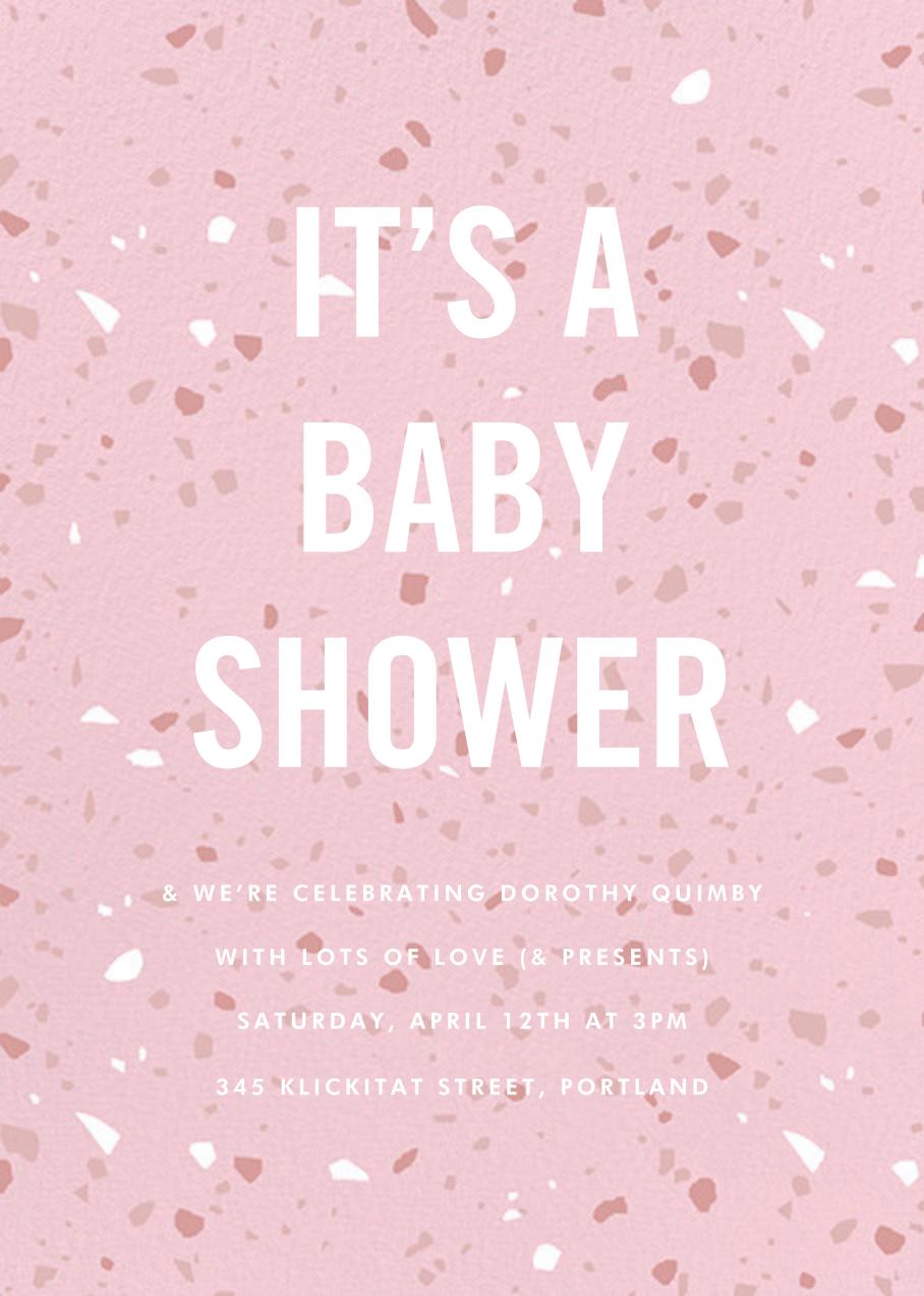 Terrazzo - Pink - Paperless Post - Baby shower