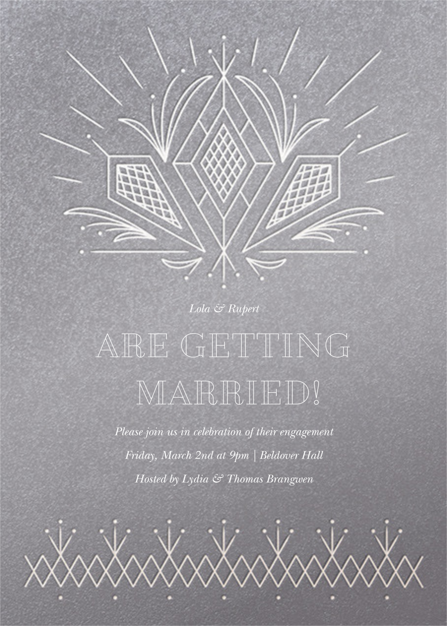 Crystal Clear - Paperless Post - Engagement party