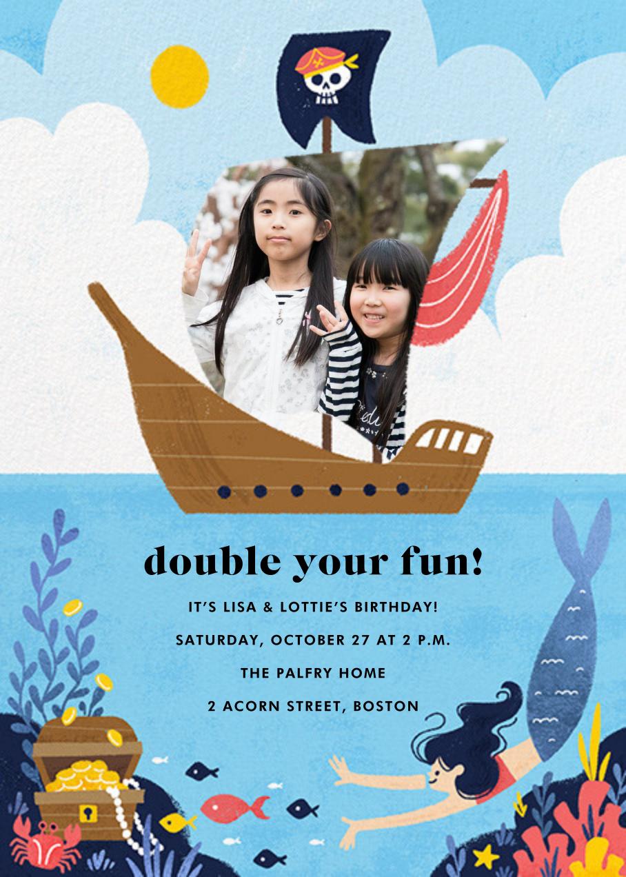 Buccaneers and Beauties - Light - Paperless Post - Kids' birthday