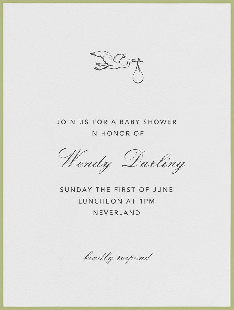 Marylebone Nursery - Celery - Paperless Post - Baby shower