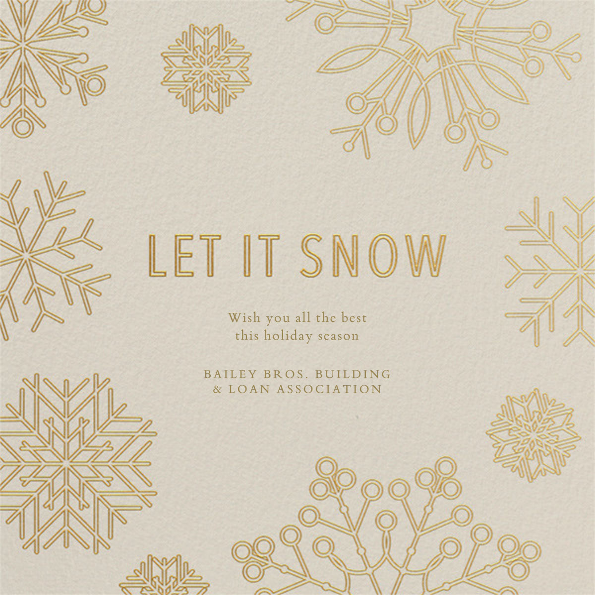 Etched Snowflakes - Cream - Paperless Post - Business holiday cards