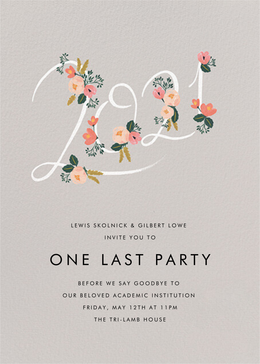 Botanic Year (Tall) - Oyster - Rifle Paper Co. - Graduation party