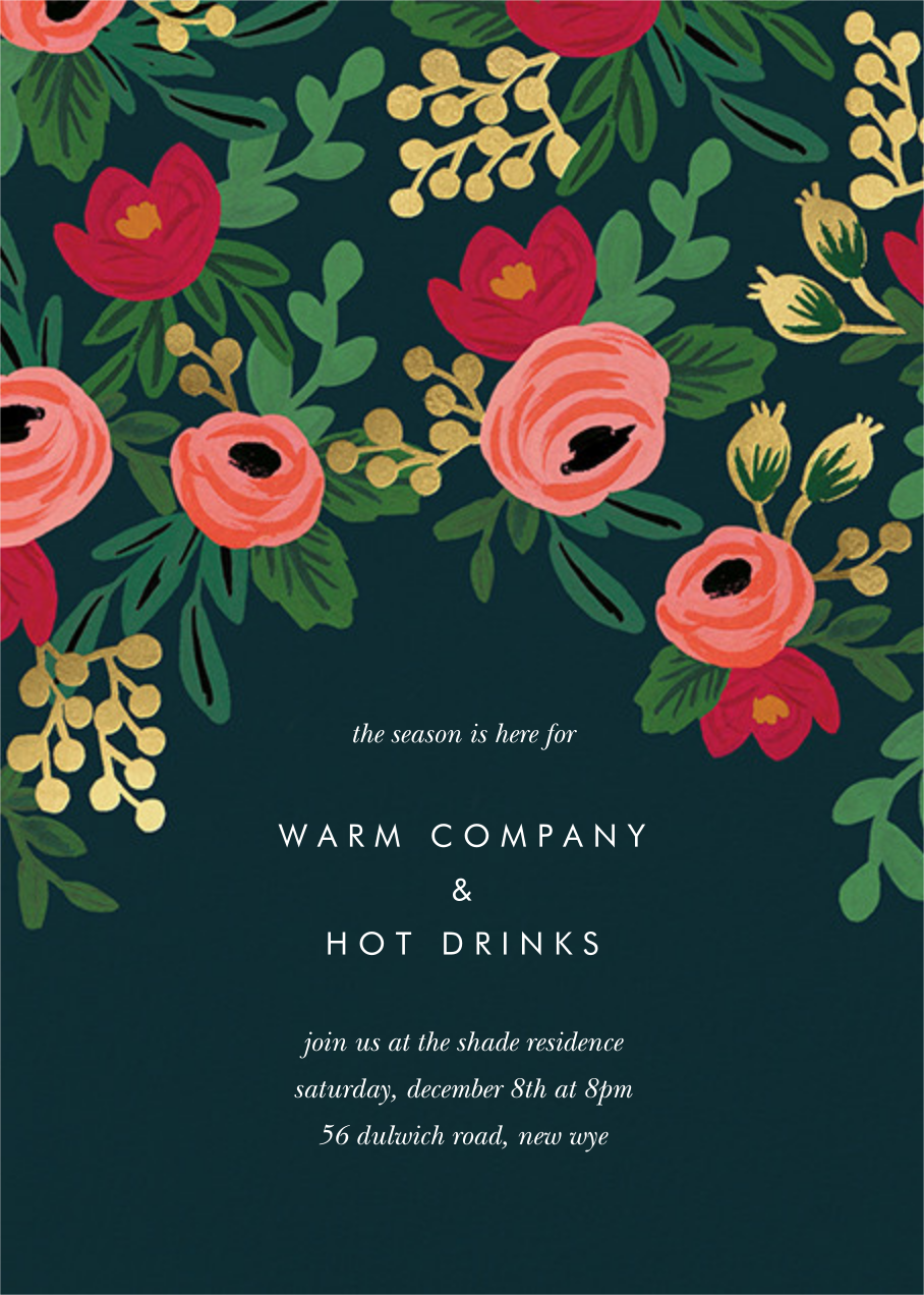 Rosy Cheeked - Rifle Paper Co. - Holiday party