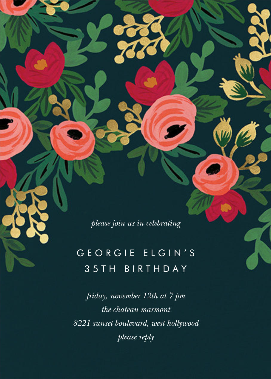 Rosy Cheeked - Rifle Paper Co. - Adult birthday
