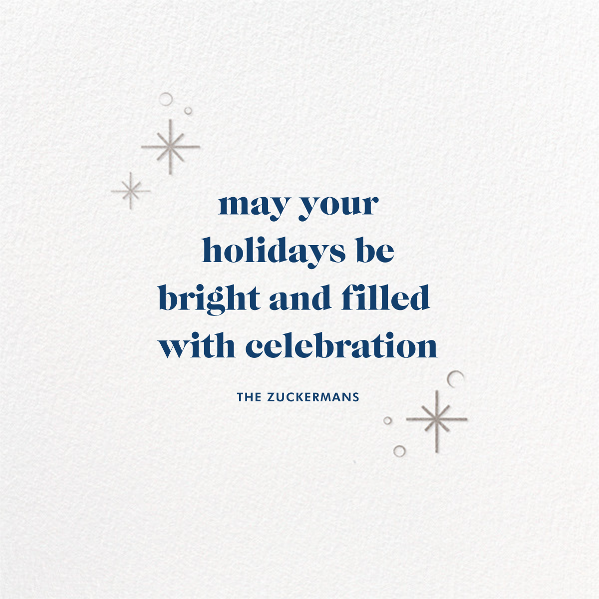 Celestial Snowflake - Blue - Paperless Post - Hanukkah - card back