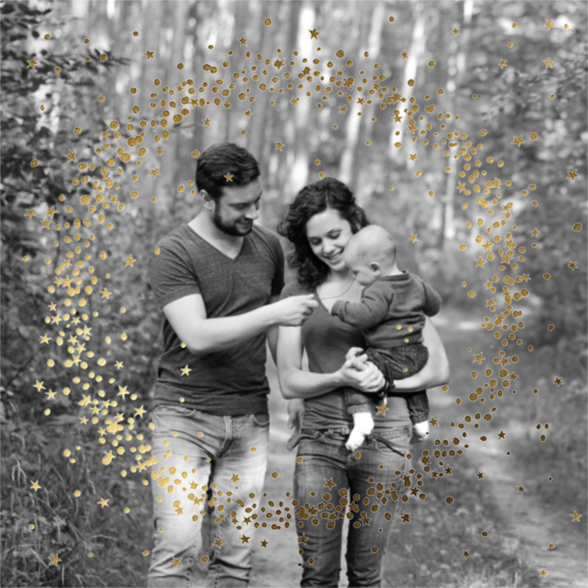 Wreath of Stars Photo - Paperless Post - Holiday cards