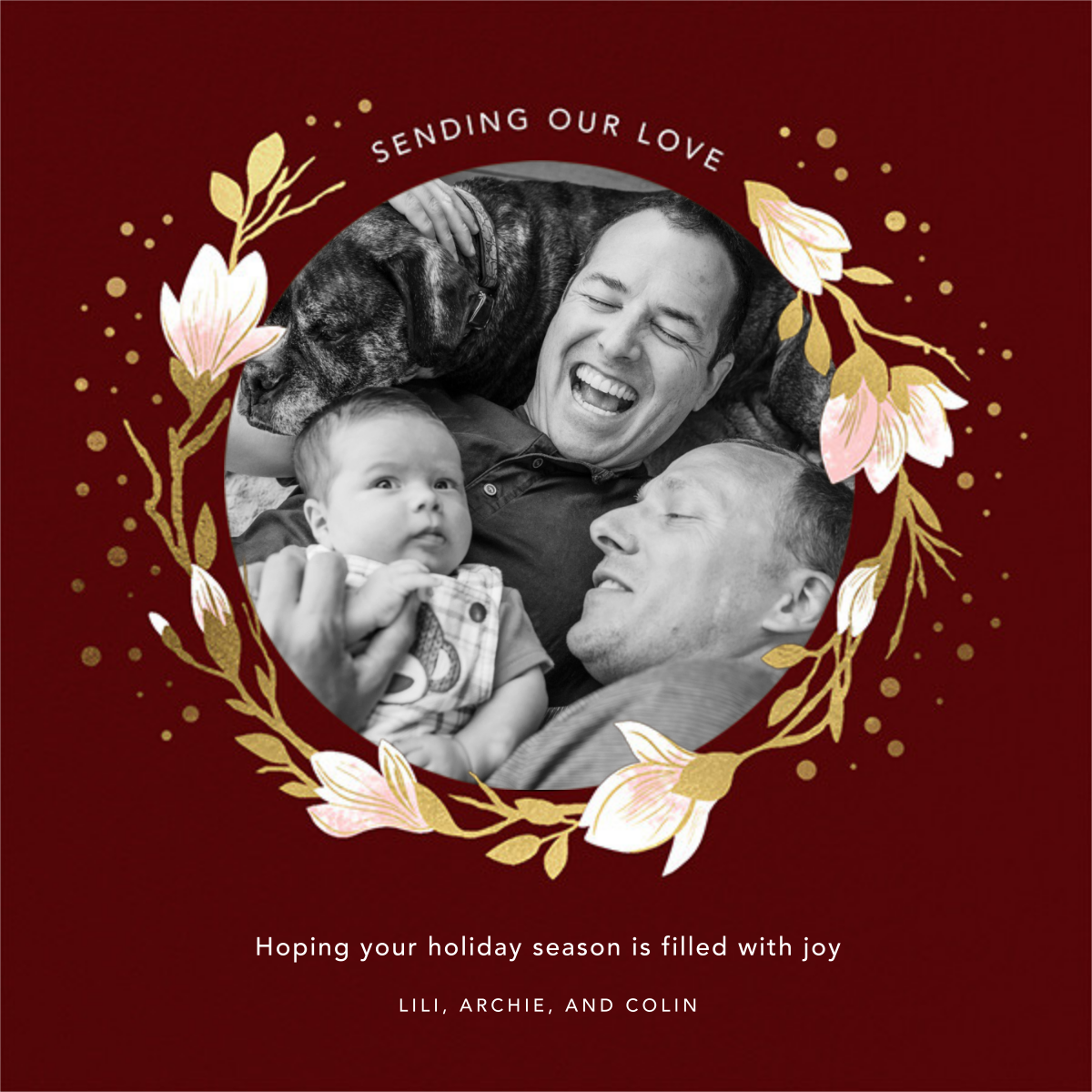 Magnolia Roundel - Paperless Post - Holiday cards