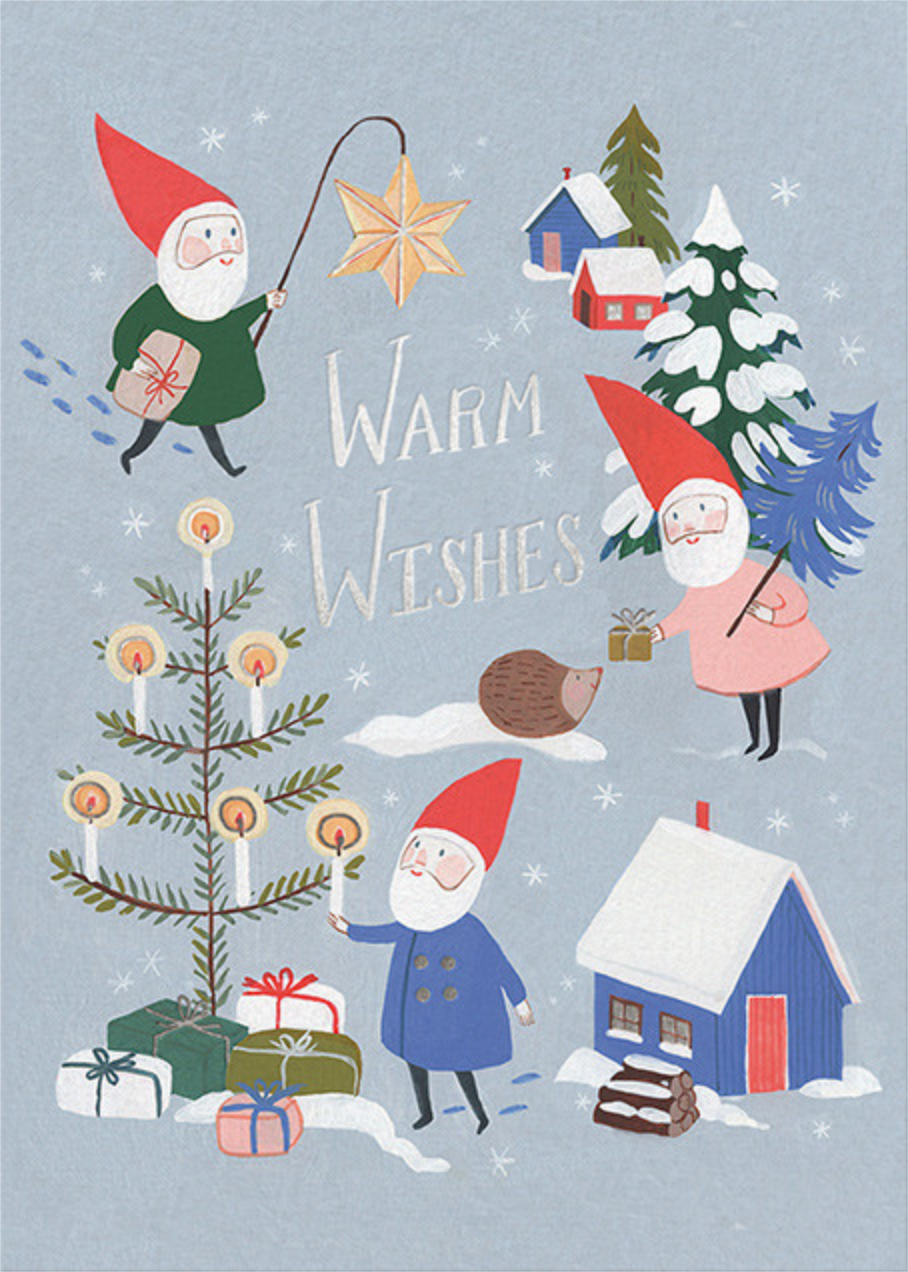 Gnome for the Holidays (Kelsey Garrity Riley) - Red Cap Cards - Christmas