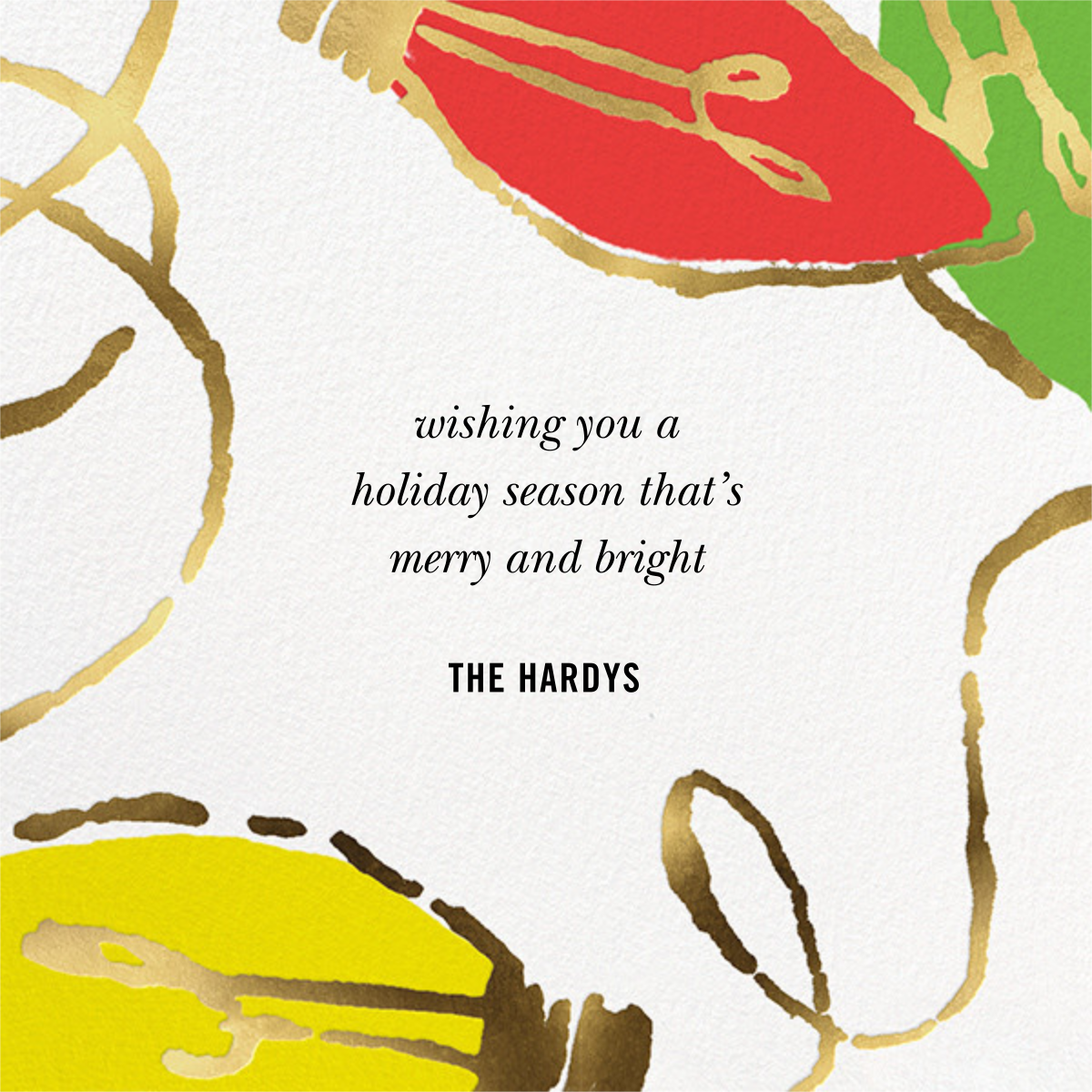 Blinky and Bright - kate spade new york - Holiday cards - card back