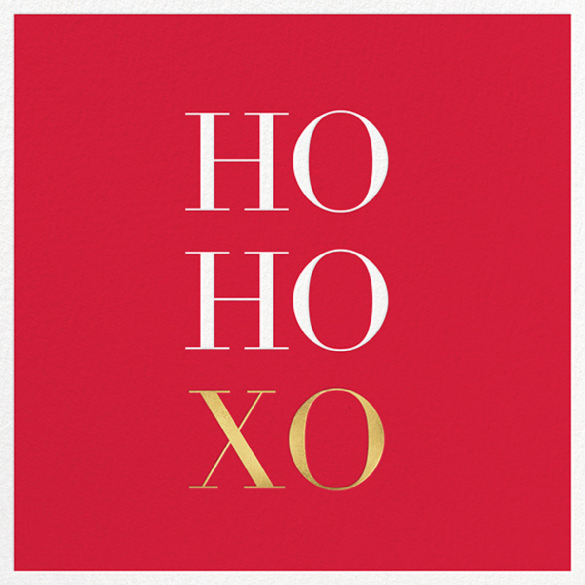 Ho Ho Xo - Sugar Paper - Christmas party