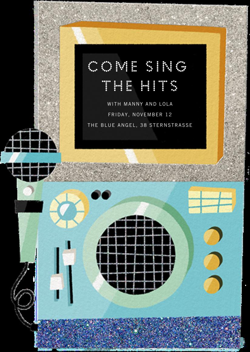 Karaoke Machine - Blue - Paperless Post - Adult birthday