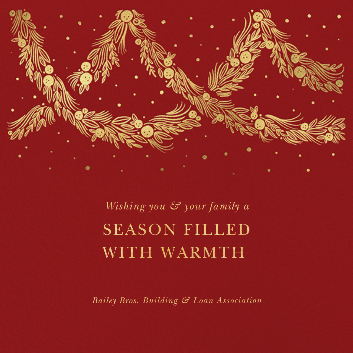 Holiday Drape - Paperless Post - Company holiday cards