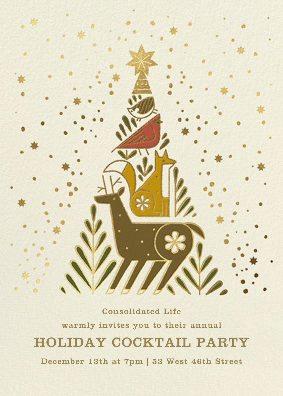 Holiday Totem - Paperless Post - Corporate invitations