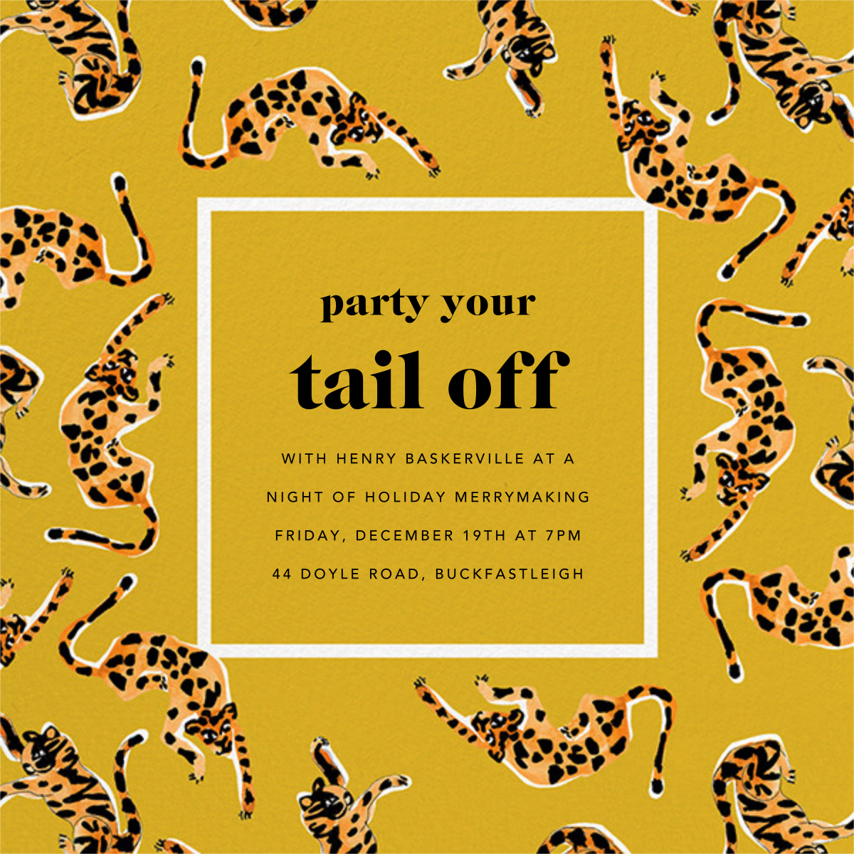 It's a Jungle Out There - Paella - Anthropologie - Holiday party