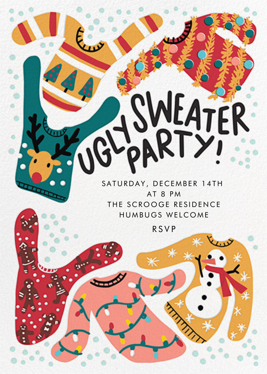 Knit's Hideous - Hello!Lucky - Ugly sweater party