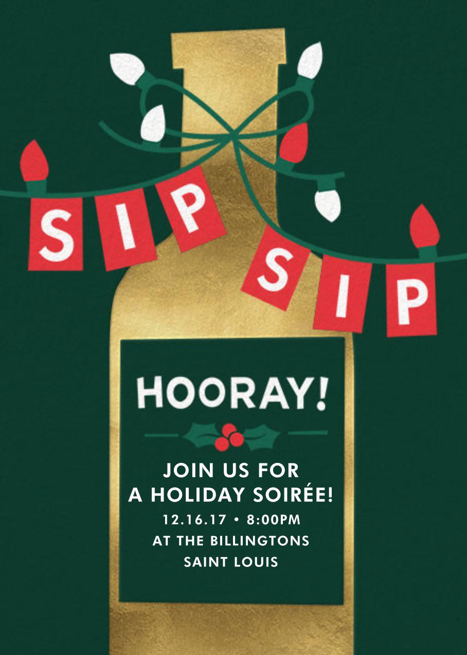 Sip Sip Hooray - Cheree Berry - Christmas party
