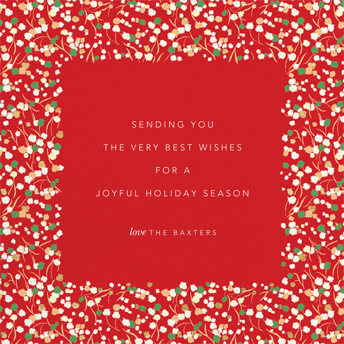 Tender Buttons Photo - Red - Anthropologie - Holiday cards - card back