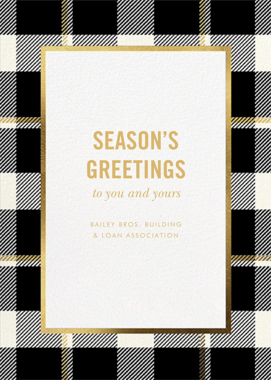 Tartan Suite - kate spade new york - Business holiday cards