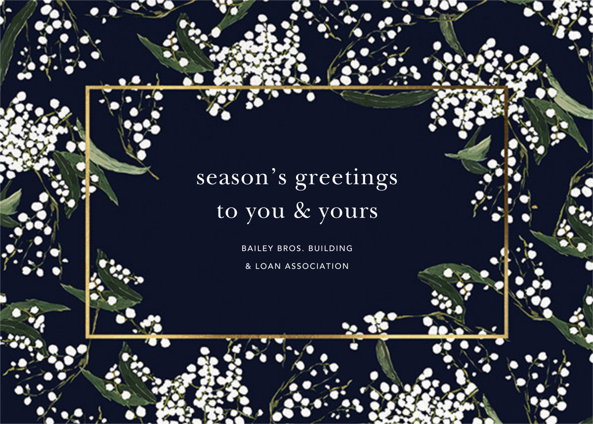 Baby's Breath - Oscar de la Renta - Business holiday cards