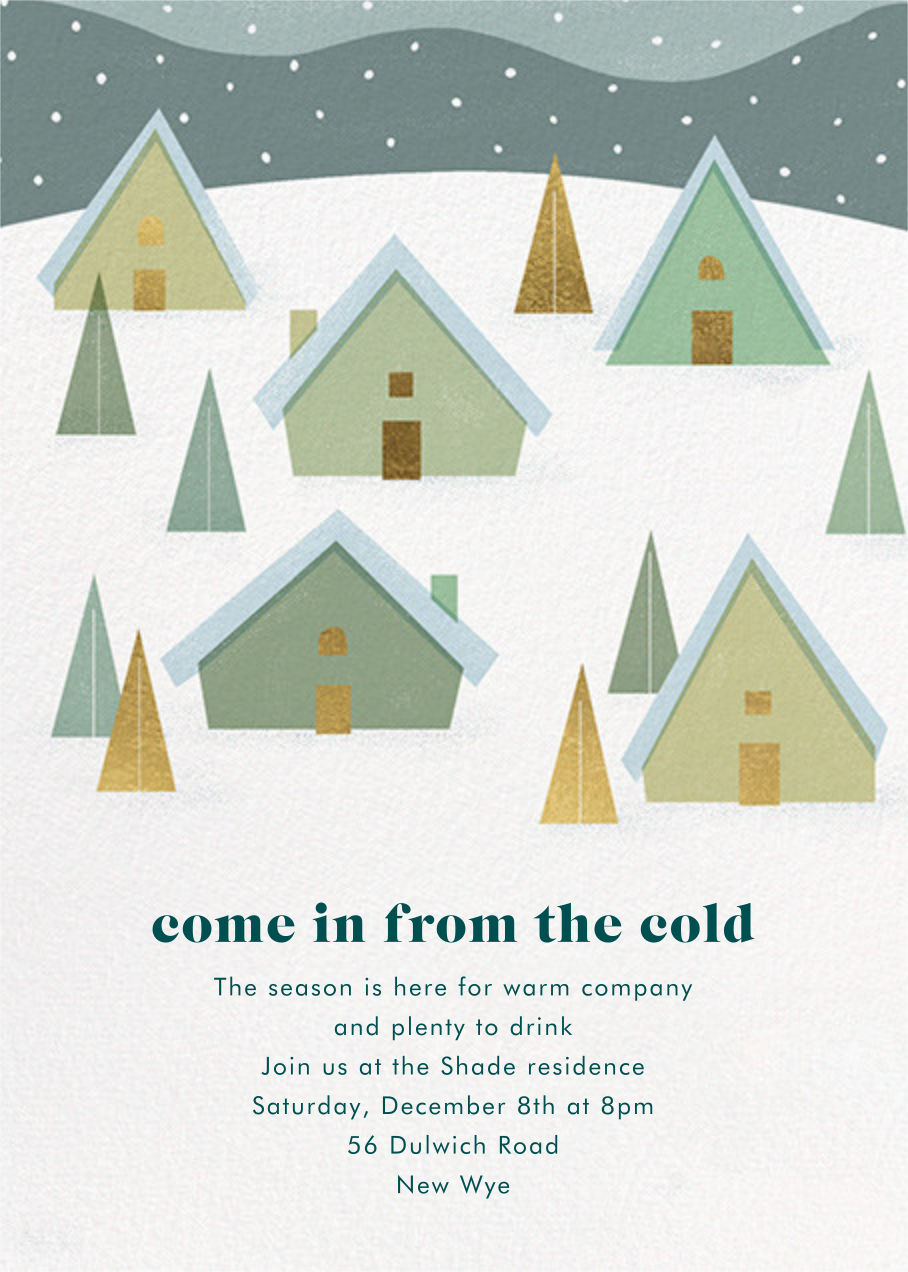 Snow on the Rooftops - Paperless Post - Winter parties