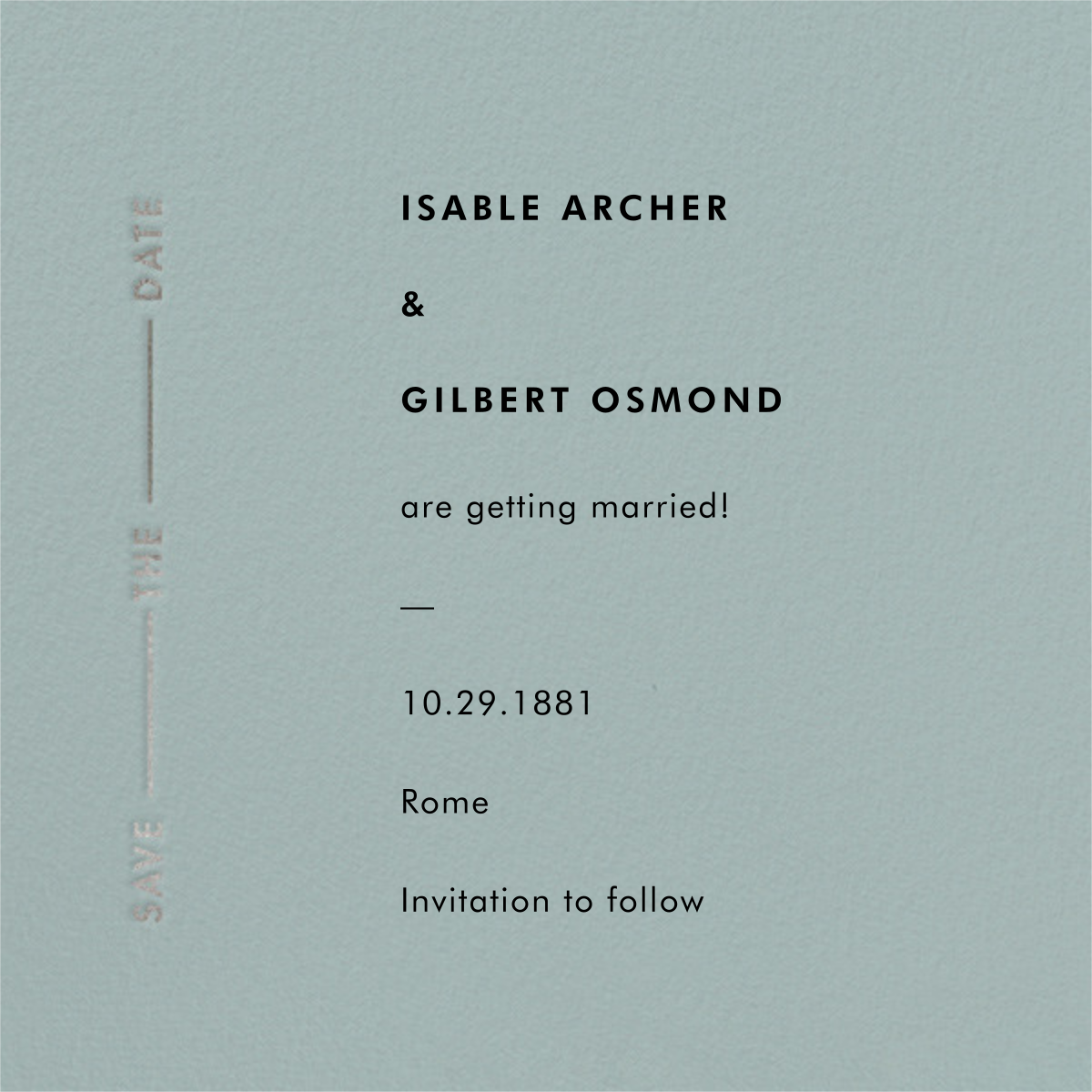 Lieder - Gray Green - Paperless Post - Save the date