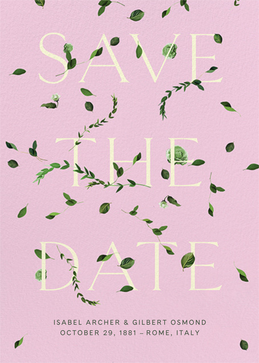 Semplici - Carnation - Venamour - Save the date