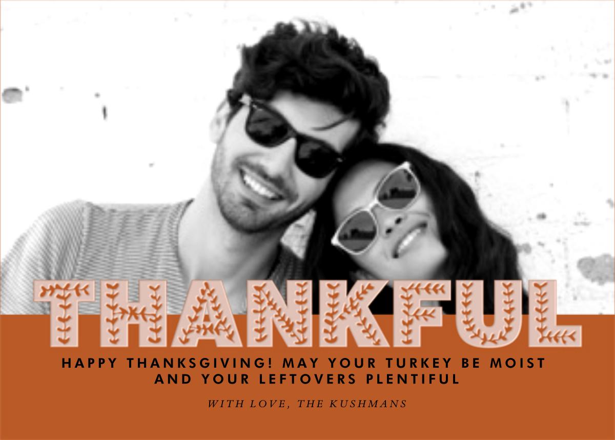 Thankful Photo - Pumpkin - Paperless Post - null