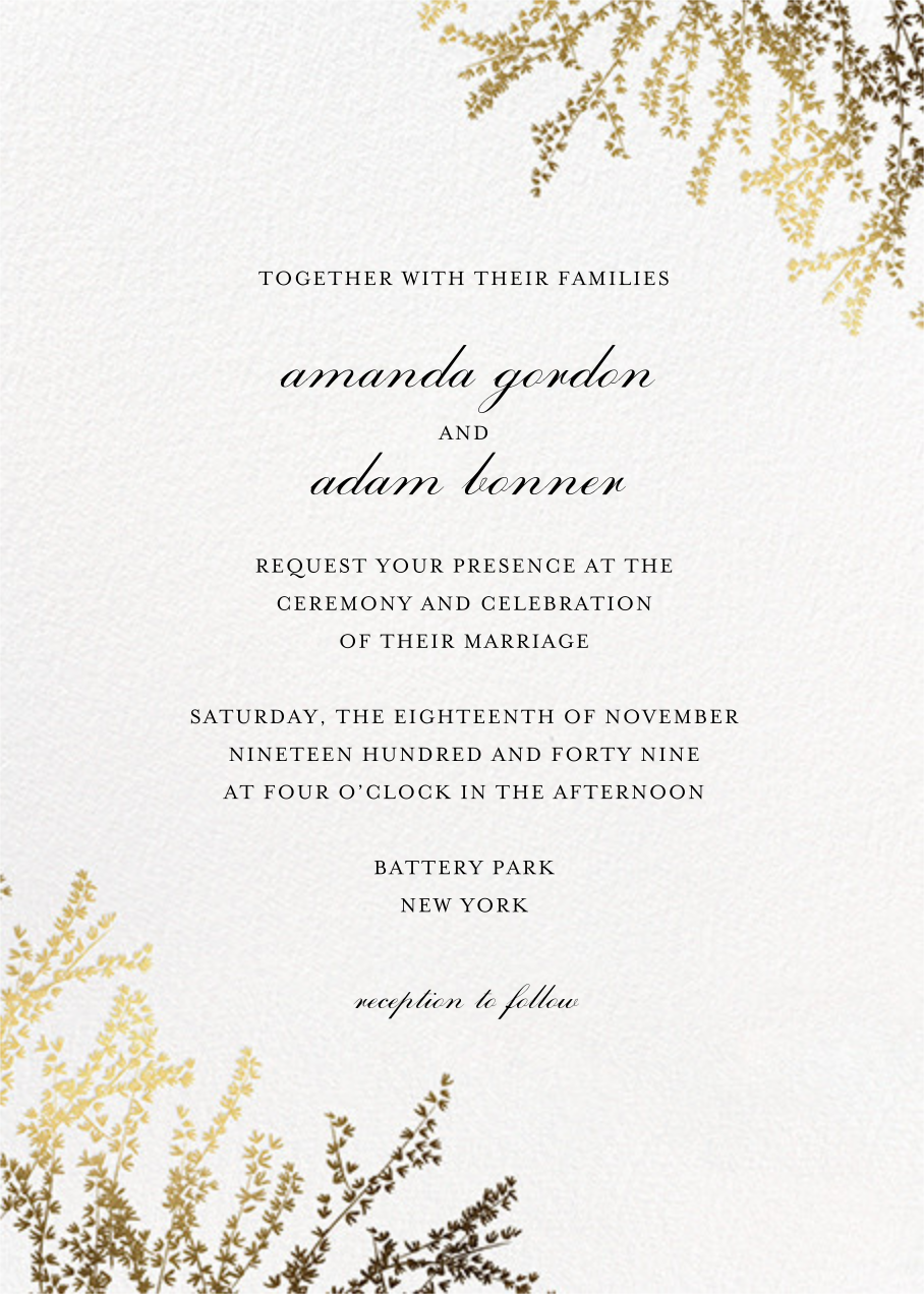 Forsythia Photo (Invitation) - Paperless Post - All - card back