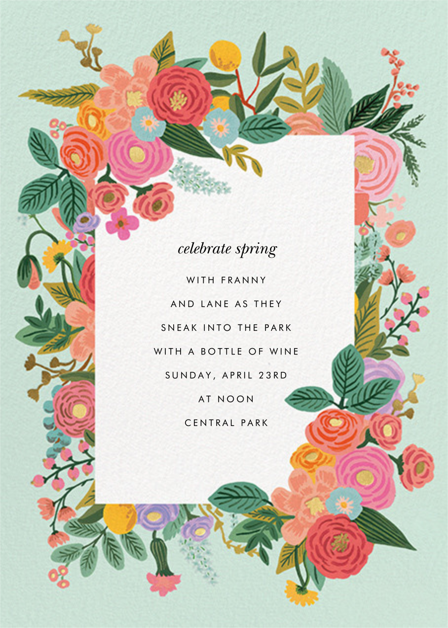 Garden Party (Tall) - Rifle Paper Co. - Summer entertaining