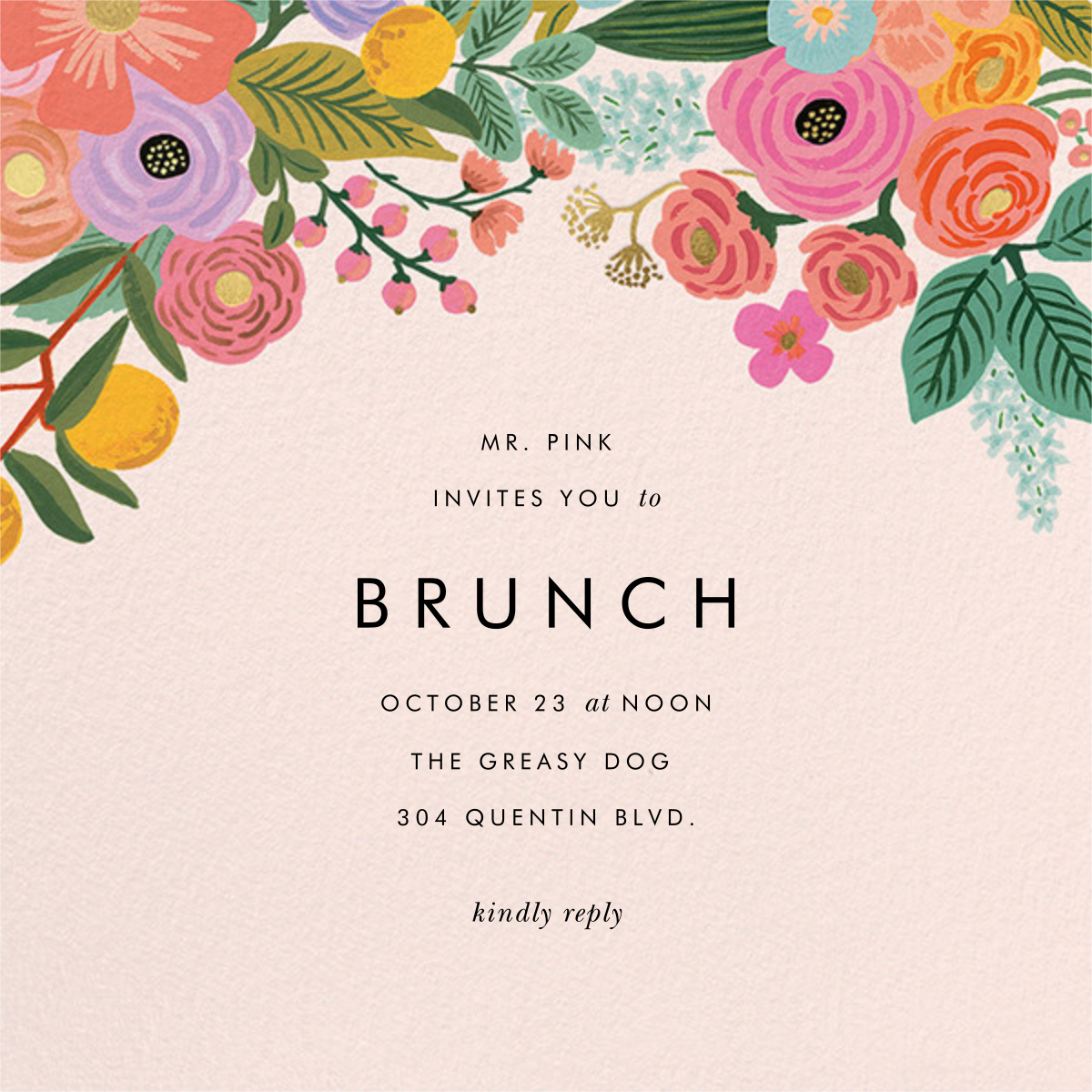 Garden Party (Square) - Rifle Paper Co. - Brunch