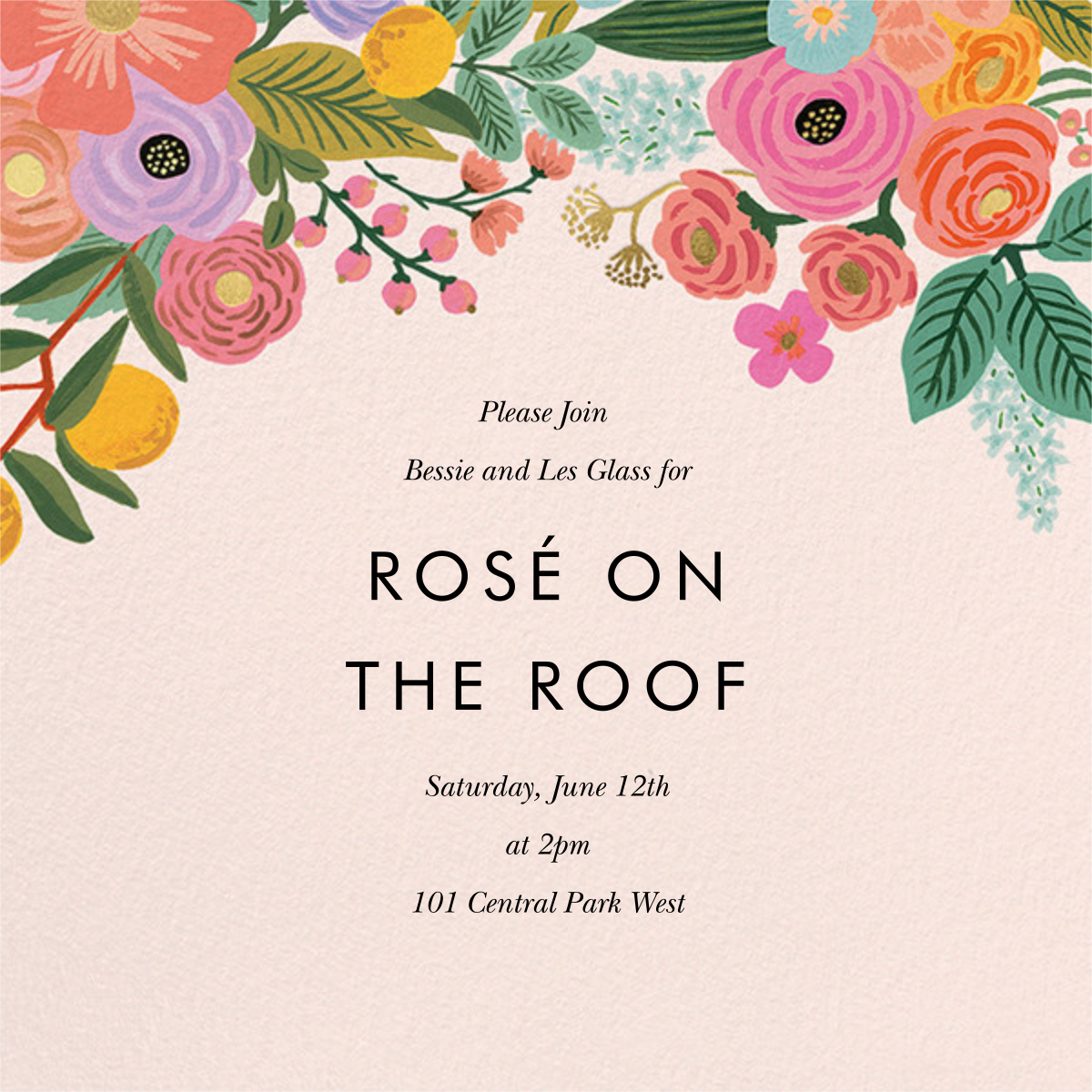 Garden Party (Square) - Rifle Paper Co. - Printable invitations