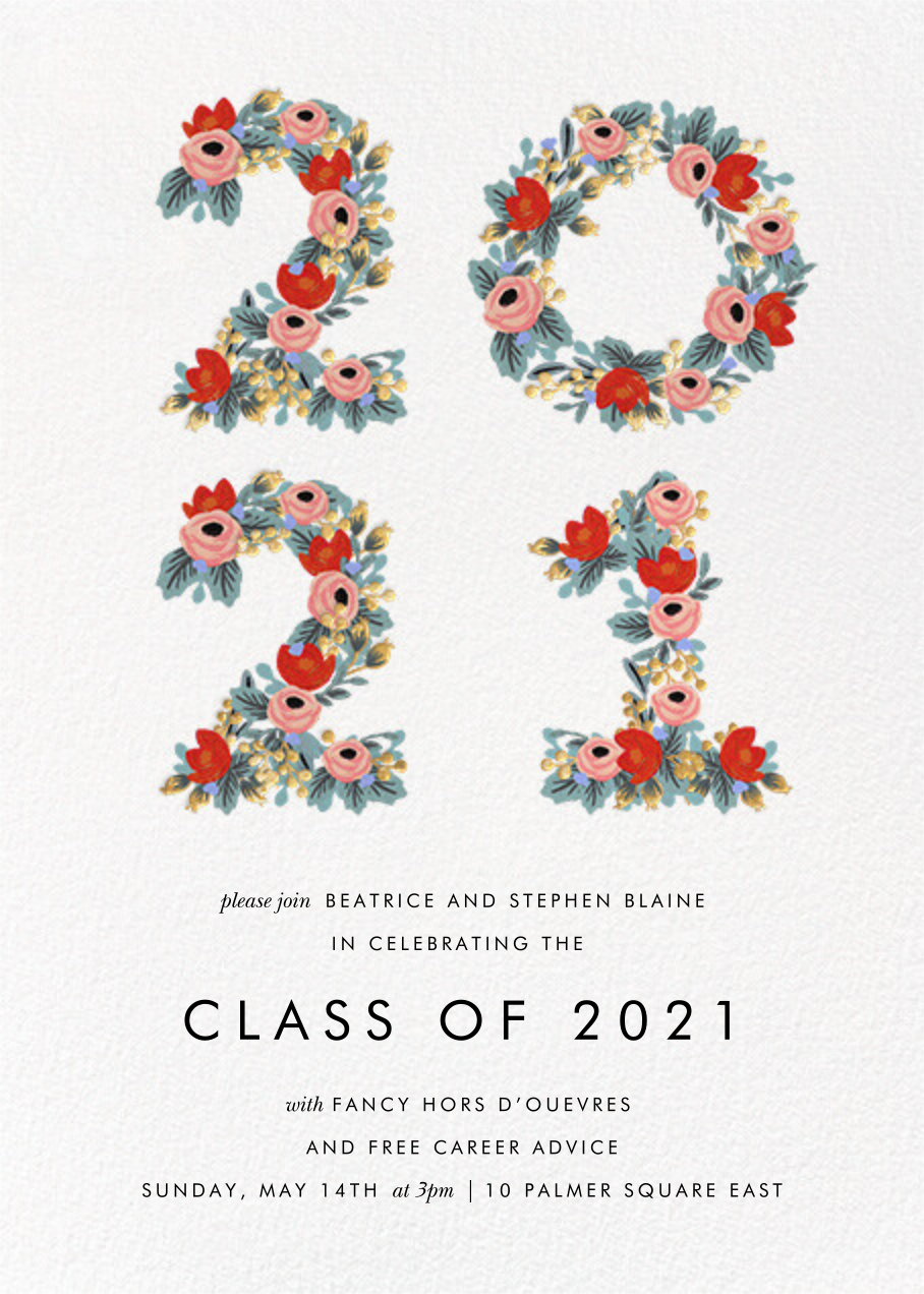 Year in Bloom - White - Rifle Paper Co. - Graduation party