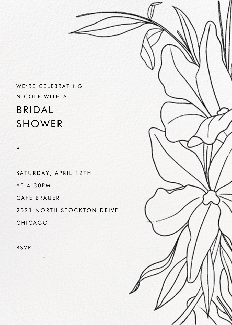 Aubrey - Black - Paperless Post - Bridal shower