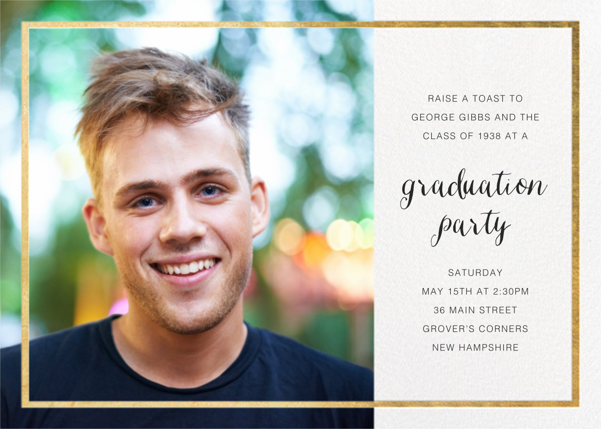 Idylle (Photo) - White/Gold - Paperless Post - Graduation party