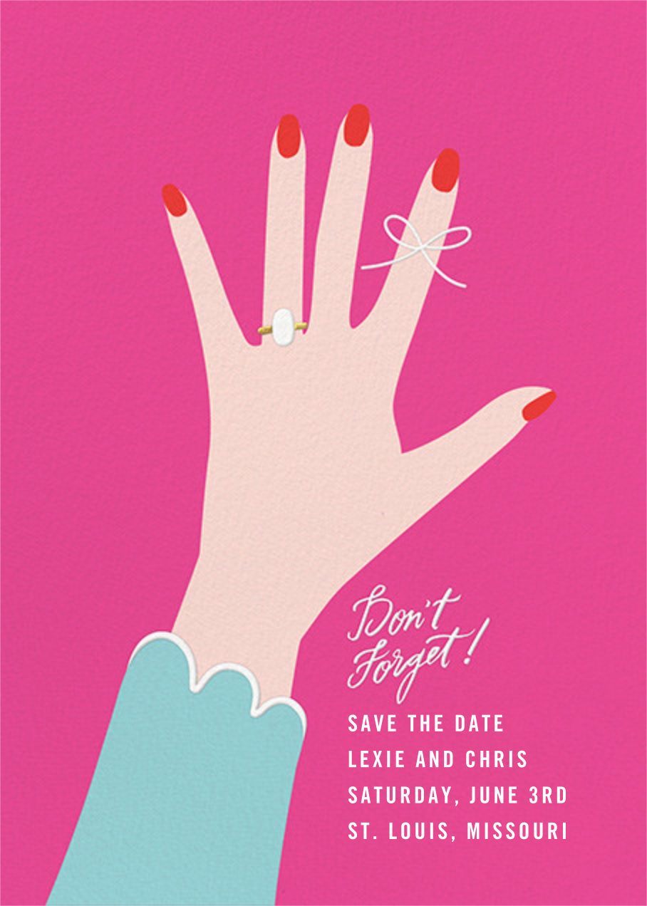 Put a String on It - Bright Pink - Cheree Berry - Save the date
