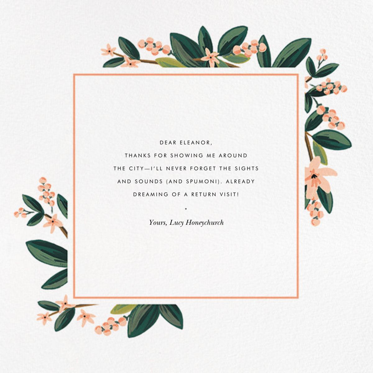 November Herbarium (Square) - Rifle Paper Co. - Graduation thank you cards