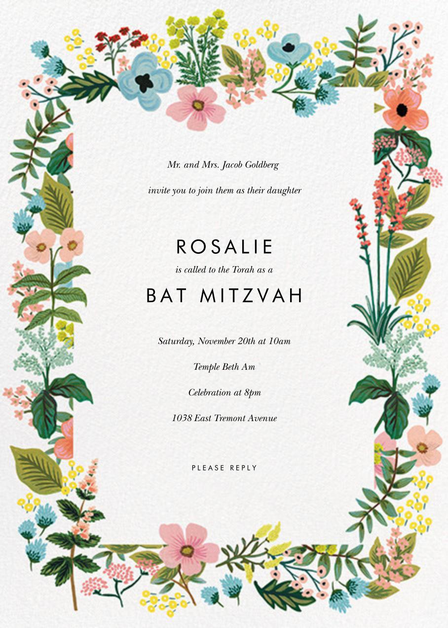 Spring Gathering - White - Rifle Paper Co. - Bat and bar mitzvah