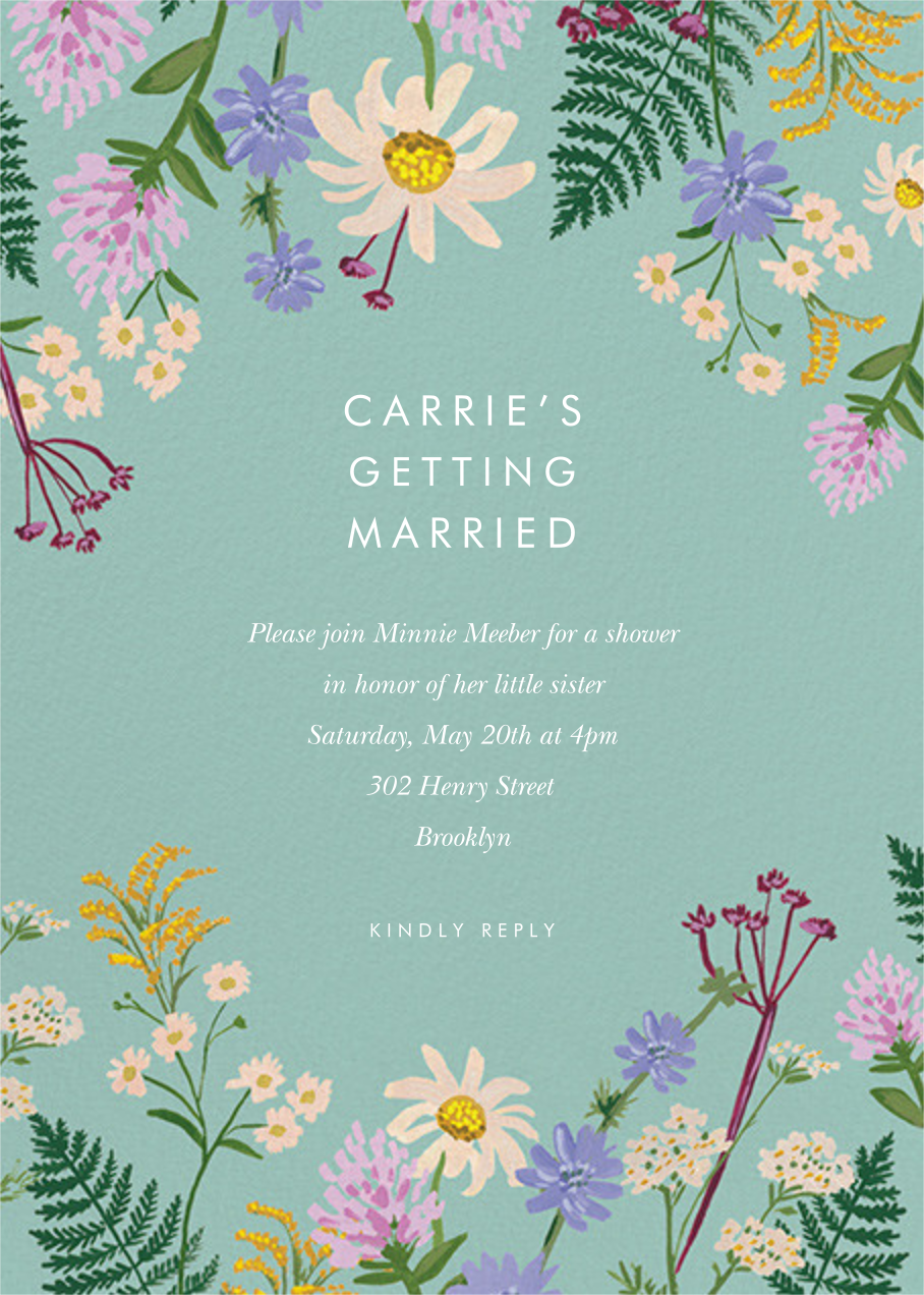 Summer Fronds - Rifle Paper Co. - Bridal shower