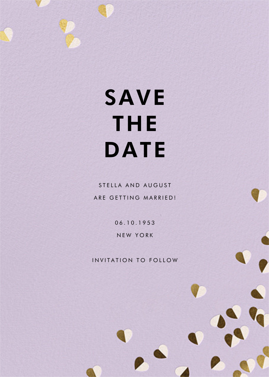 Better Halves - Lilac - kate spade new york - Save the date